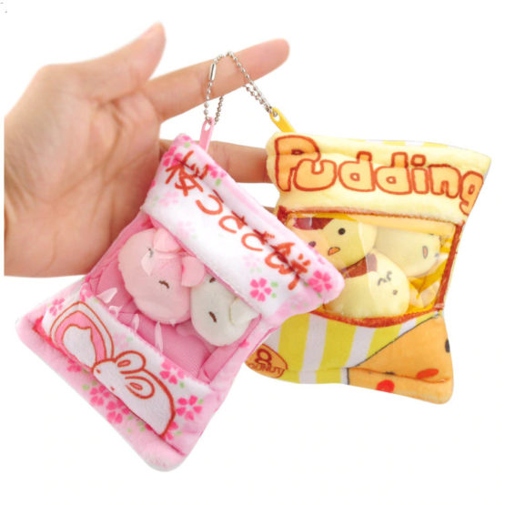 Mini Kawaii plush keychain