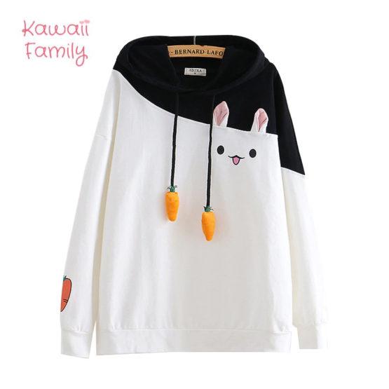 Kawaii Bunny Carrot Sweater