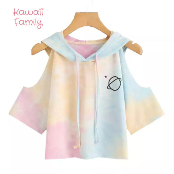 Cotton Candy Planet Sleeve shirt