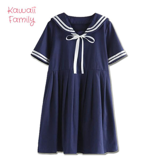 Kawaii blue navy children's Dress