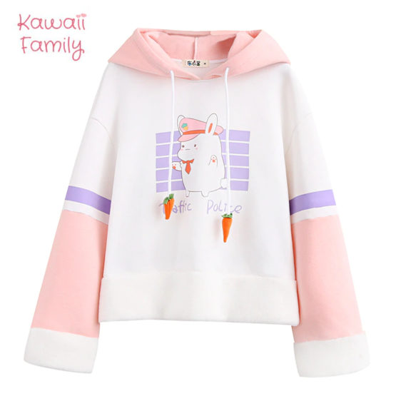 Rabbit traffic police hoodie