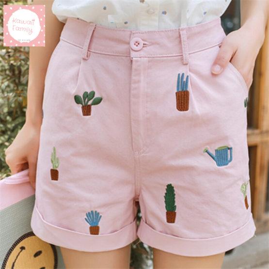 Kawaii cactus shorts