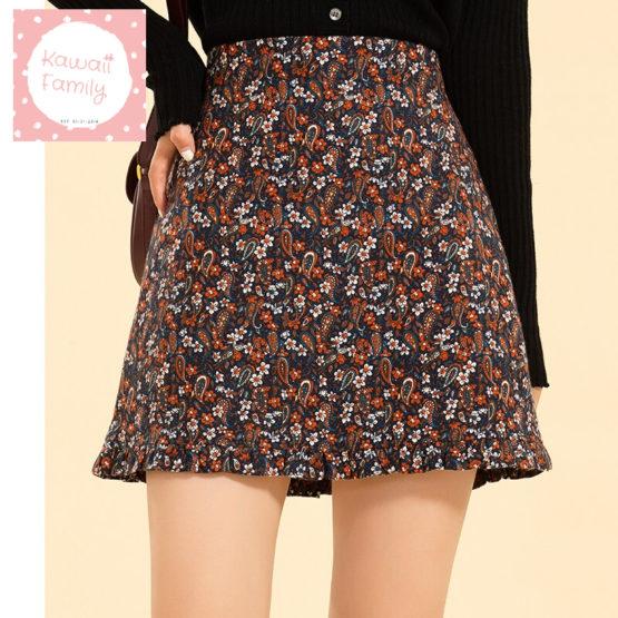 Floral Printed mini skirt