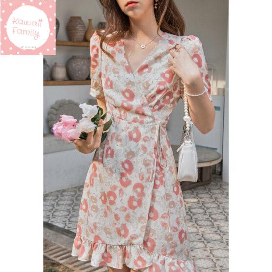 Printed floral summer dress