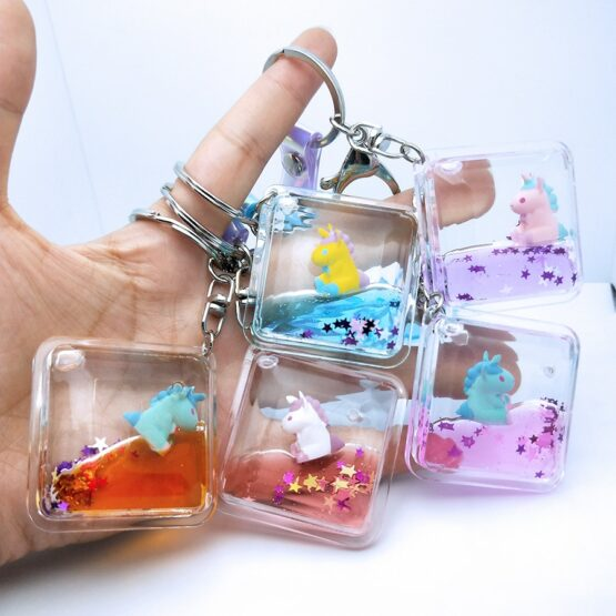 Unicorn Glitter quicksand Keychain