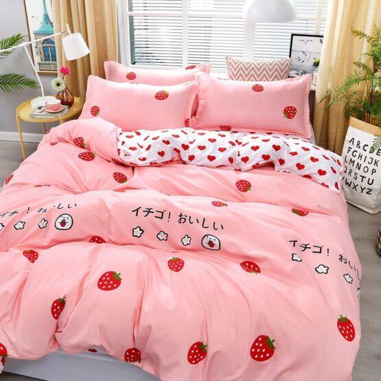 Strawberry kawaii Bedding Set