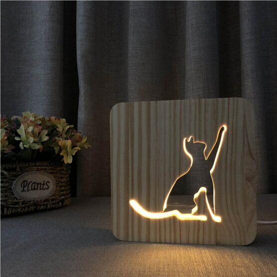 Wooden Ambient night light