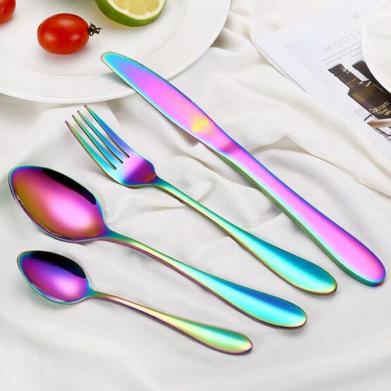 Multi-Colors Rainbow Cutlery Set