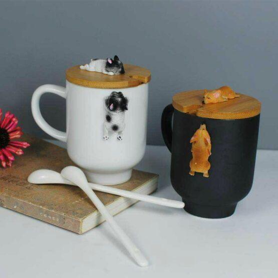 3D Corgi / bulldog mug